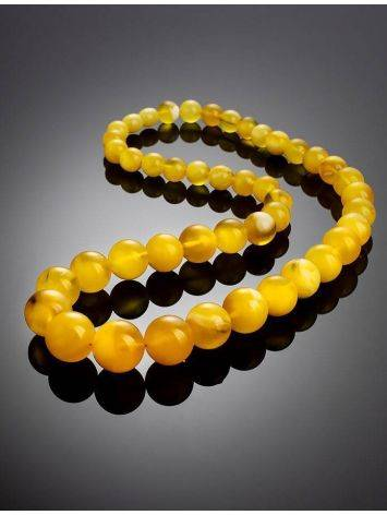 Bold Butterscotch Amber Beaded Necklace, image , picture 2