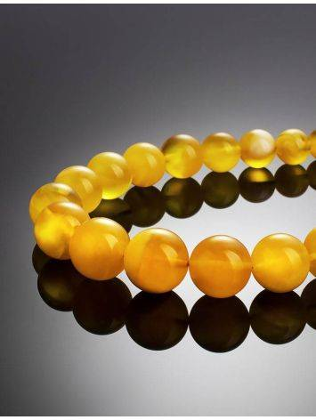 Bold Butterscotch Amber Beaded Necklace, image , picture 4
