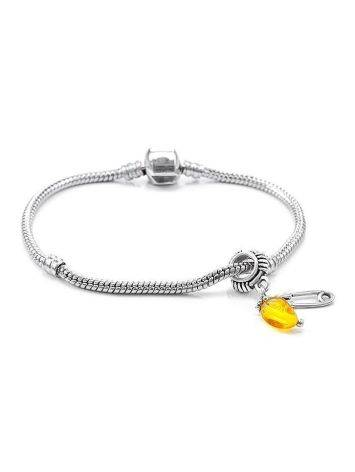 Sterling Silver Charm With Lemon Amber The Pin, image , picture 3