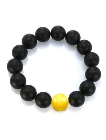 Black Amber Bead Bracelet The Cuba, image , picture 3