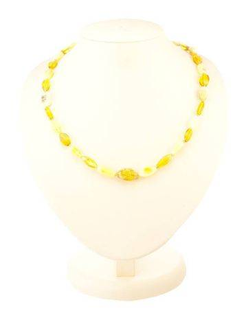 Multicolor Faceted Amber Beads, image