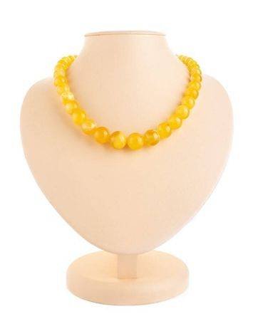 Bold Butterscotch Amber Beaded Necklace, image