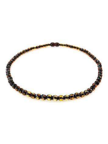 Faceted Amber Beaded Necklace The Prague, image , picture 3
