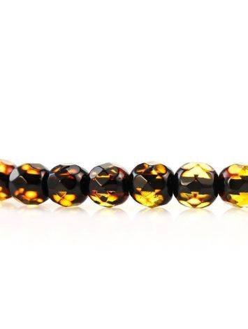 Faceted Amber Beaded Necklace The Prague, image , picture 5