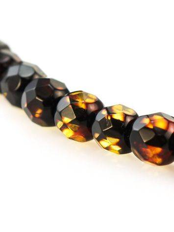 Faceted Amber Beaded Necklace The Prague, image , picture 2