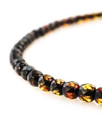 Faceted Amber Beaded Necklace The Prague, image , picture 4
