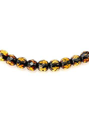 Faceted Amber Beaded Necklace The Prague, image , picture 6