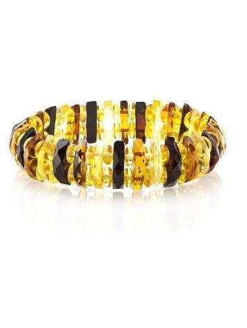 Faceted Multicolor Amber Designer Bracelet The Tangerine, image , picture 6