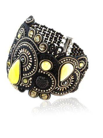 Braided Cuff Bracelet With Amber And Crystals The India, image , picture 3