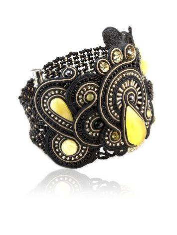 Braided Cuff Bracelet With Amber And Crystals The India, image , picture 4