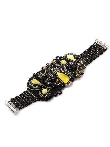 Braided Cuff Bracelet With Amber And Crystals The India, image , picture 5
