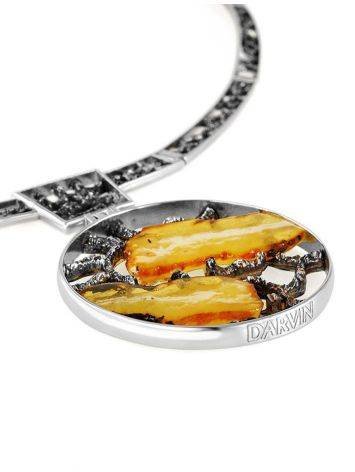 Honey Amber Necklace In Sterling Silver The Lava, image , picture 4
