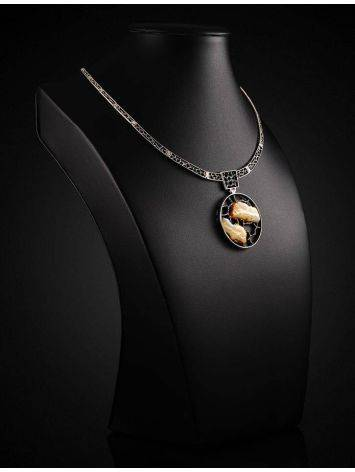 Honey Amber Necklace In Sterling Silver The Lava, image , picture 2