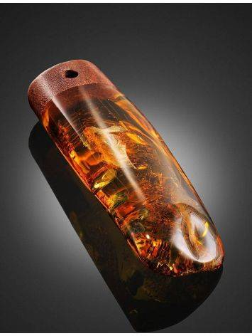 Cognac Amber And Oak Wood Pendant The Indonesia, image , picture 2