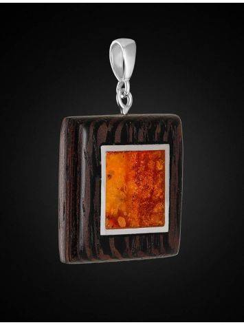 Cognac Amber And Wood Pendant The Indonesia, image , picture 3