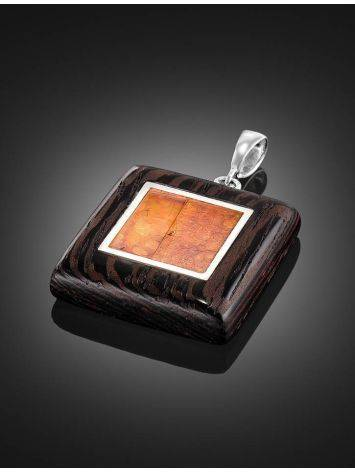 Cognac Amber And Wood Pendant The Indonesia, image , picture 2