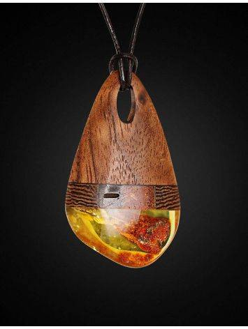 Amber And Wood Pendant The Indonesia, image , picture 3