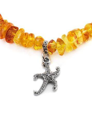 Cognac Amber Designer Bracelet With Charms, image , picture 3