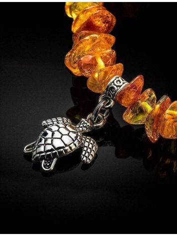 Cognac Amber Designer Bracelet With Charms, image , picture 2