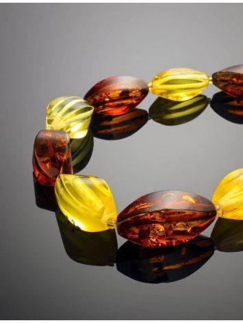 Multicolor Amber Beaded Necklace, image , picture 2