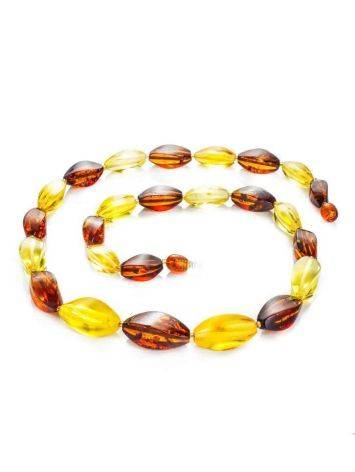 Multicolor Amber Beaded Necklace, image , picture 3