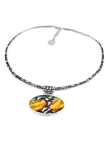 White Amber Necklace In Sterling Silver The Lava, image , picture 4