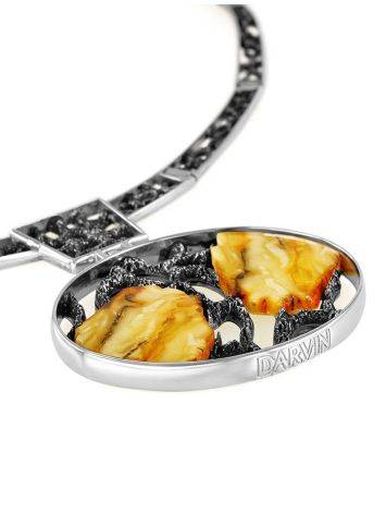 White Amber Necklace In Sterling Silver The Lava, image , picture 5