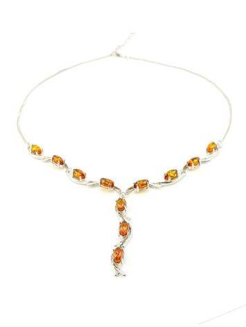 Amber Necklace In Sterling Silver The Verbena, image , picture 3