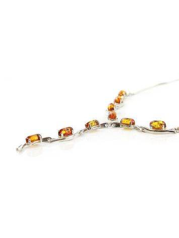 Amber Necklace In Sterling Silver The Verbena, image , picture 4