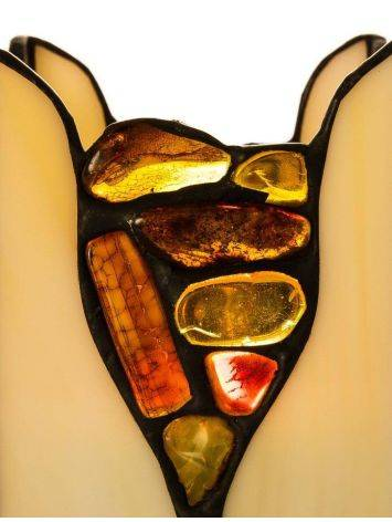 Multicolor Amber And Glass Candleholder, image , picture 3