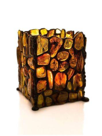 Handcrafted Lemon Amber Candleholder, image , picture 5