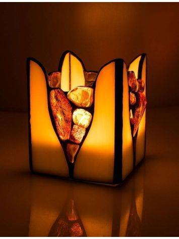Multicolor Amber And Glass Candleholder, image , picture 2