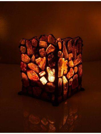 Handcrafted Lemon Amber Candleholder, image , picture 2