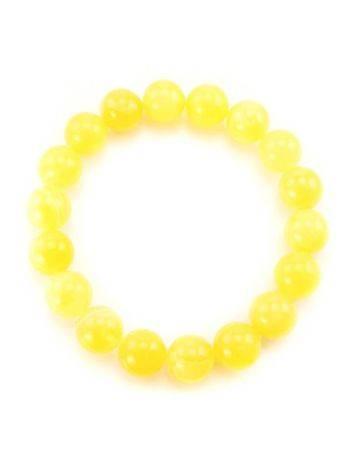 Honey Amber Ball Beaded Bracelet, image , picture 4