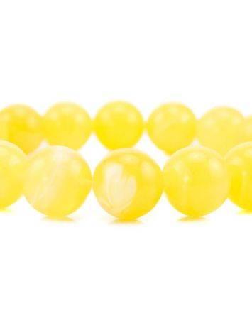 Honey Amber Ball Beaded Bracelet, image , picture 6