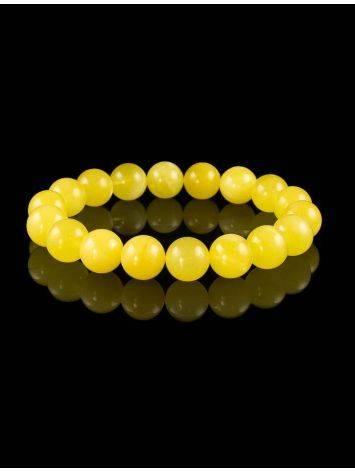 Honey Amber Ball Beaded Bracelet, image , picture 3