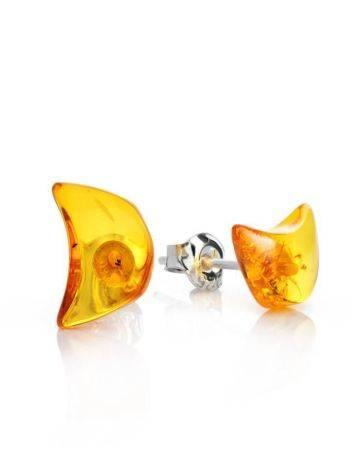 Cognac Amber Stud Earrings The Acapulco, image