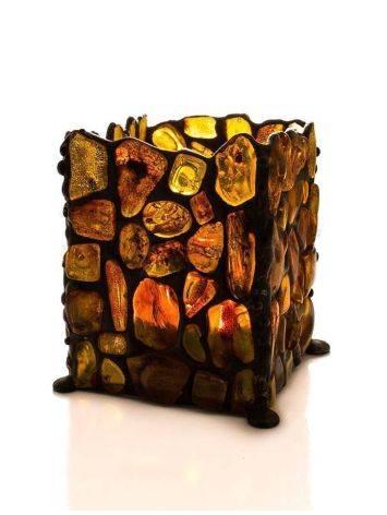 Handcrafted Lemon Amber Candleholder, image