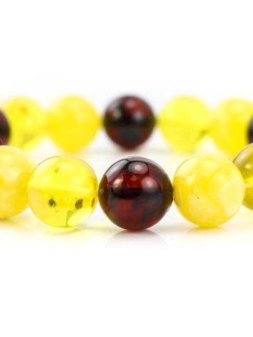 Multicolor Amber Beaded Stretch Bracelet, image , picture 2