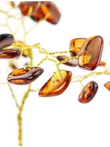 Cognac Amber Decorative Money Tree, image , picture 2