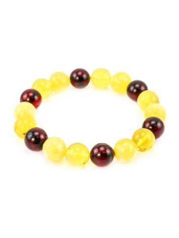 Multicolor Amber Beaded Stretch Bracelet, image