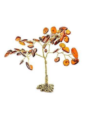 Cognac Amber Decorative Money Tree, image