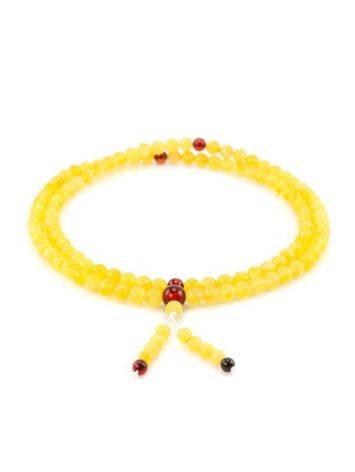 Butterscotch Amber Buddhist Prayer Beads, image