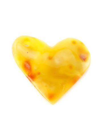 Honey Amber Heart Pendant The Declaration, image
