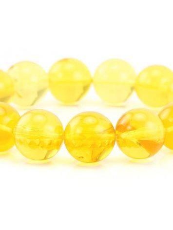 Lemon Amber Beaded Elastic Bracelet, image , picture 2