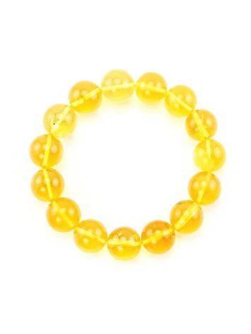 Lemon Amber Beaded Elastic Bracelet, image , picture 3