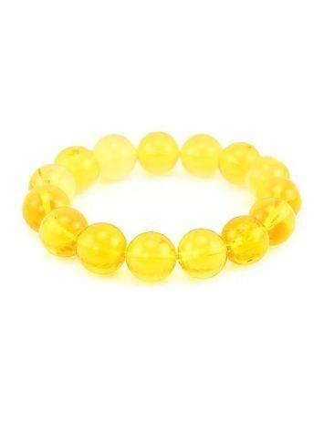 Lemon Amber Beaded Elastic Bracelet, image