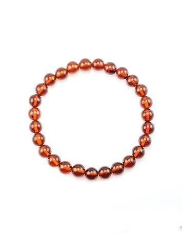 Dark Amber Beaded Elastic Bracelet, image , picture 3