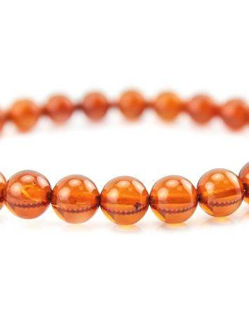 Dark Amber Beaded Elastic Bracelet, image , picture 2