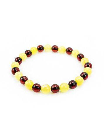 Two Toned Amber Beaded Bracelet, image , picture 4